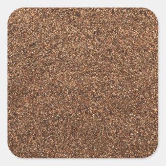 black pepper texture square sticker