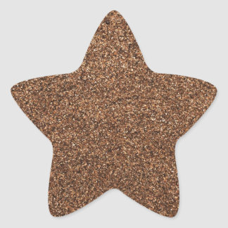 black pepper texture star sticker