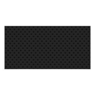 Black Perforated Kevlar Carbon Fiber Custom Photo Card