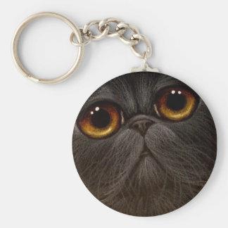 BLACK PERSIAN CAT Keychain