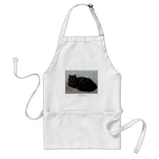 Black Persian Housecat Artwork Standard Apron
