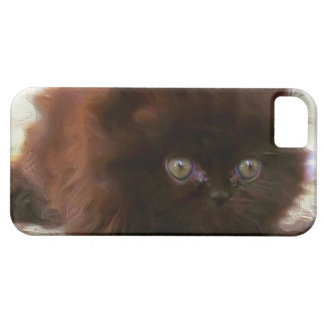 Black persian kitten iPhone 5 cases