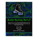 Black Personalised Roller Skating Party Invitation