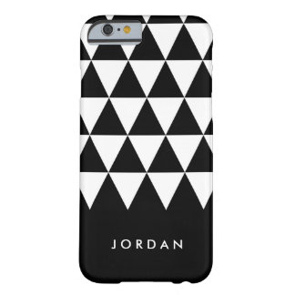 Black Personalize Name Minimalist White Triangle Barely There iPhone 6 Case