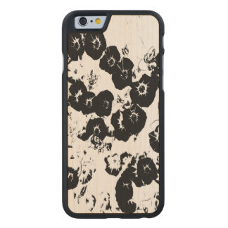 Black Petunias Carved Maple iPhone 6 Case