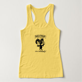 Black Phillip Butter goat tank ladies - yellow