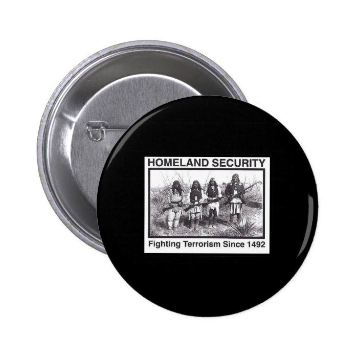 Black Photo Indian Homeland Security 6 Cm Round Badge