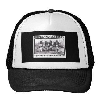 Black Photo Indian Homeland Security Cap