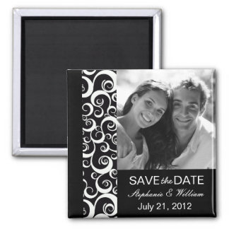 Black Photo Save The Date Magnet