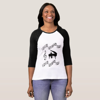 BLACK PIANO MUSIC-2 T-Shirt