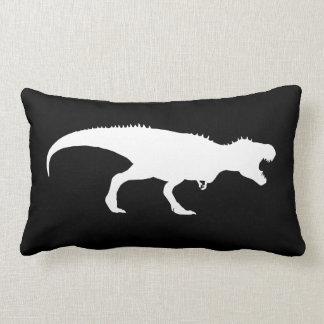 Black Pillow with T-Rex Silhouette Cushion