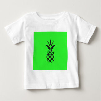 Black pine apple in Green Baby T-Shirt