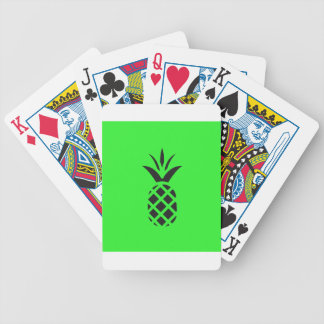 Black pine apple in Green Bicycle Playing Cards