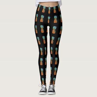 Black PIneapple Patterned Leggings