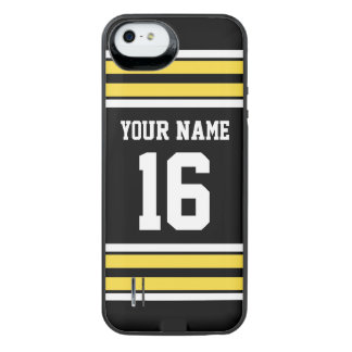 Black Pineapple Yellow Team Jersey Name Number iPhone SE/5/5s Battery Case
