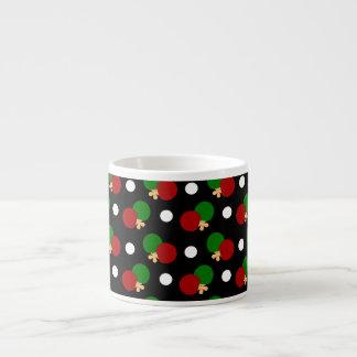 Black ping pong pattern espresso mug