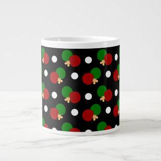 Black ping pong pattern jumbo mug
