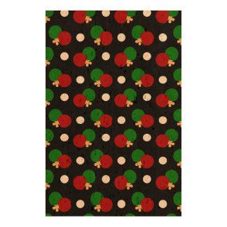 Black ping pong pattern photo cork paper
