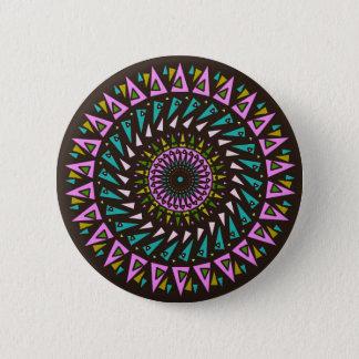Black Pink Blue Cosmic Neon Star Button