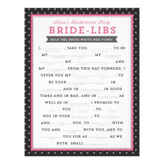 Black & Pink Bride Libs Game 21.5 Cm X 28 Cm Flyer