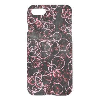 Black Pink Bubble Circle Deflector iPhone 7 Case