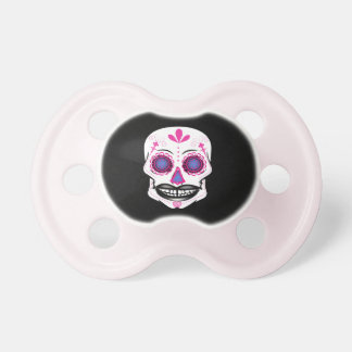 Black Pink Candy Skull Pacifier