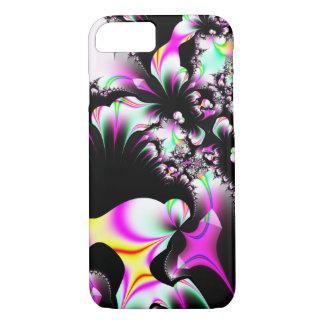 Black & Pink Floral Fractal iPhone 7 Case