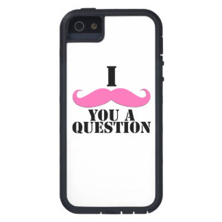Black Pink I Moustache You A Question Fun iPhone 5 Covers