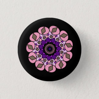 Black Pink Purple  Cosmic Geometric Pin Button
