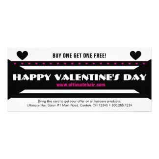 Black-Pink Valentine's Day Sales Promo Rack Card
