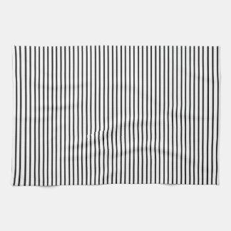 Black Pinstripe Kitchen Towel