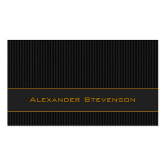 Black Pinstripes, Gold Professional Business Card