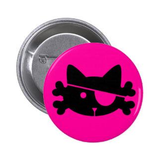 Black Pirate Cat - Button