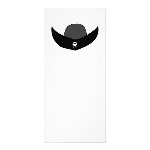 Black Pirate Hat Illustration. Rack Card Design