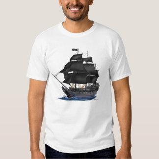 BLACK PIRATE SHIP T-SHIRT