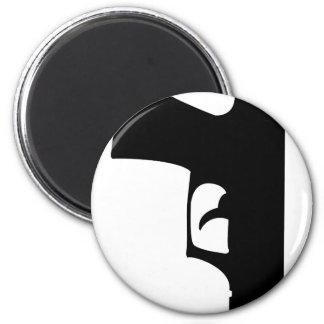 black pistol down 6 cm round magnet