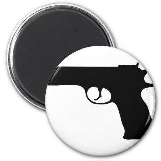 black Pistol icon 6 Cm Round Magnet