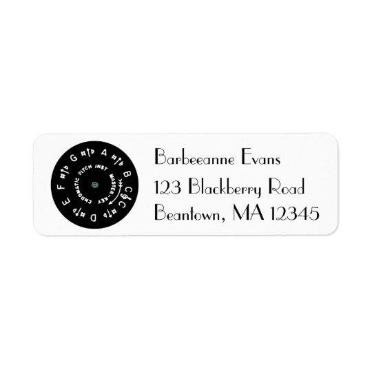 Black Pitch Pipe Return Address Label