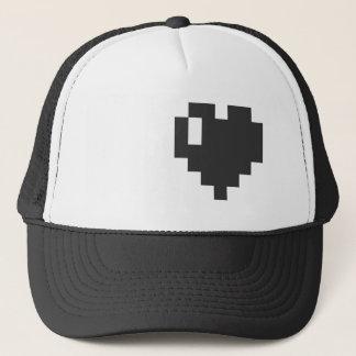 Black Pixel Heart Cap