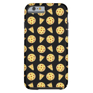 Black pizza pattern tough iPhone 6 case