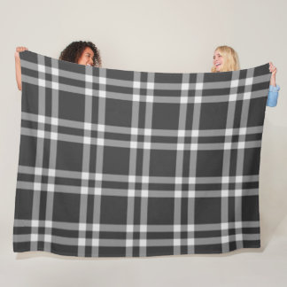 Black Plaid Fleece Blanket