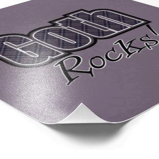 Black Plaid Goth Rocks Saying Photo Art