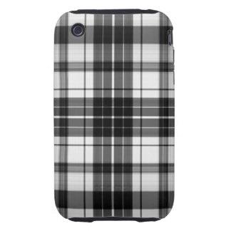 Black Plaid iPhone 3 Tough Covers