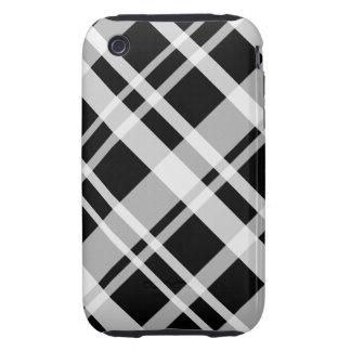 Black Plaid iPhone 3G Tough Case