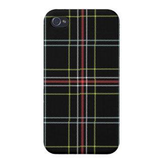 Black Plaid Pattern iPhone 4 Case