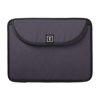 Black Plaid Pattern MacBook Pro Sleeves