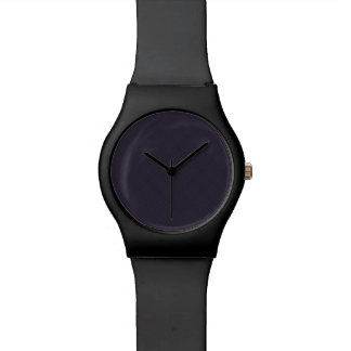 Black Plaid Pattern Watch