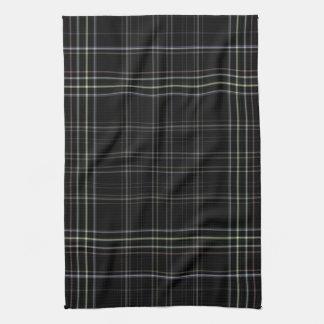 Black Plaid Tea Towel