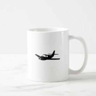 Black Plane Coffee Mug