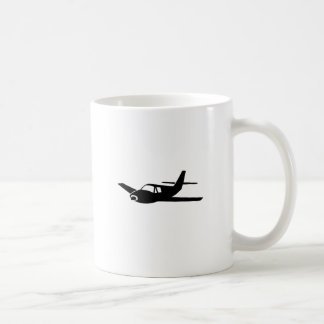 Black Plane Classic White Coffee Mug